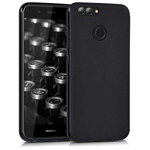 kwmobile Hülle für Huawei Nova 2 - TPU Silikon Backcover Case Handy Schutzhülle - Cover Schwarz matt