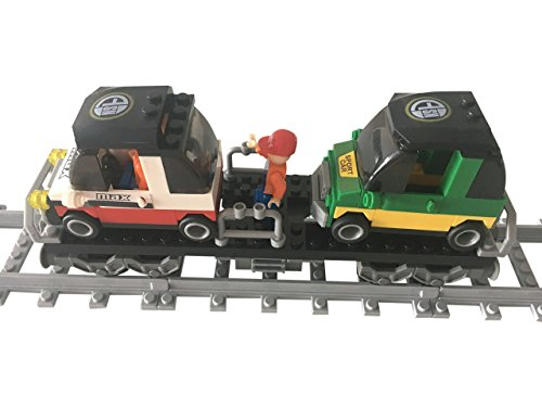 Lego City kompatibel Eisenbahn Waggon Autotransporter & Auto Neu