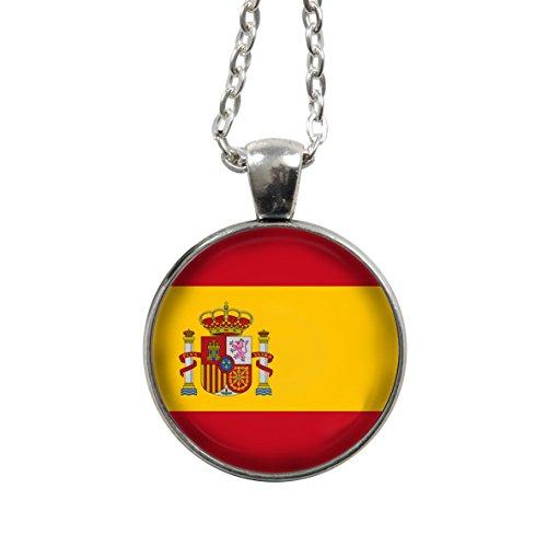 Modeschmuck Aus Spanien - Kette - Spanien Flagge/Fahne - WM