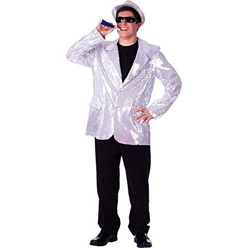 Gold Für Kostüm Erwachsene Jacke Pailletten - Dress Up America Komplett gefütterte Silber Pailletten Jacke für Erwachsene
