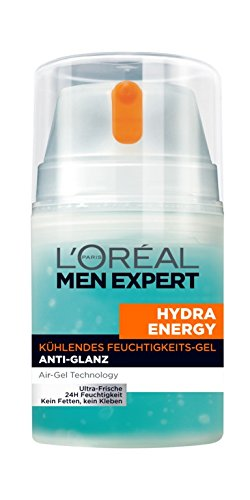 Glanz Creme (L'Oréal Men Expert Hydra Energy kühlende Feuchtigkeitspflege für Männer, 1er Pack (1 x 50 ml))