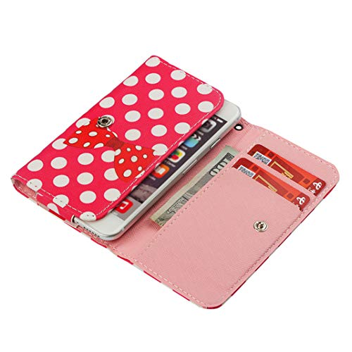 jpjbox Universal Handyhülle PU Leder Wallet Case Cover für iPhone 5/5S, Samsung Galaxy J2 (2017), Huawei P6/G510,LG K3, Sony Xperia XZ2 Compact, Case Wallet Flip Shell mit Kartenfächern für Frauen