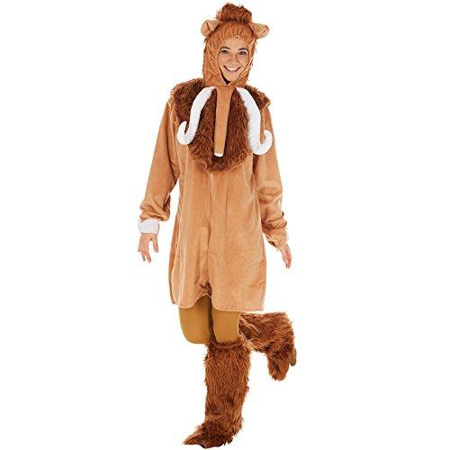 Kostüm Mammut für Sie und Ihn | Aus weichem Fellimitat | Mit extra Cape und Kapuze | Inkl. Beinstulpen und Ganzkörperstrumpfhose (M | Nr. 300887)