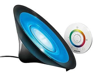 Philips Living Colors Aura, Energiesparende LED-Technologie mit 8 Watt, 16 Millionen Farben,mit Fernbedienung, schwarz 7099830PH
