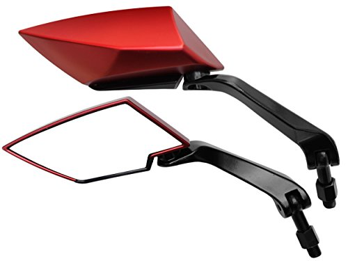 Spiegel Set Kawasaki EN 500, ER-5 Twister, Kawasaki W650 / Rückspiegel Set Kawasaki KLE 500 / KLR 600, KLR 650 / KLX 650 (V16) (650 Klr Zubehör)