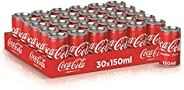 Coca-Cola Regular Carbonated Soft Drink Cans, 150 ml (Pack of 30)