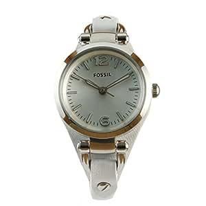 Fossil Damen-Armbanduhr Georgia Analog Quarz Leder ES3267