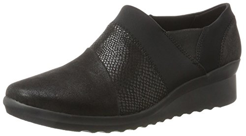 Clarks Women's Caddell Denali Loafers, Black, 4 4 UK