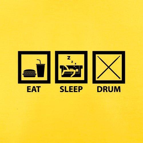 Eat Sleep Drum (Schlagzeug) - Herren T-Shirt - 13 Farben Gelb
