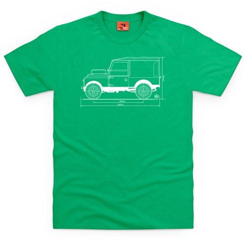 PistonHeads 1947 Landie T-Shirt, Herren Keltisch-Grn