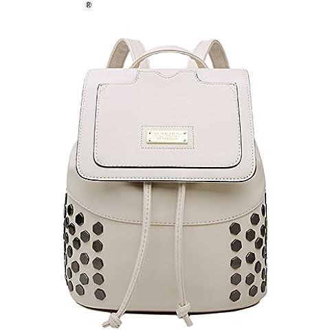 DrawString backpack/Copertura in metallo patch Pack/Borsa donna moda