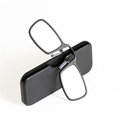 Pince Nez Lesebrille Mit Fall für Herren/Frauen Mini Clip Nase Tragbar Brieftasche Leser Brille Dioptrie +1.0 +1.5 +2.0 +2.5 +3.0 +3.5