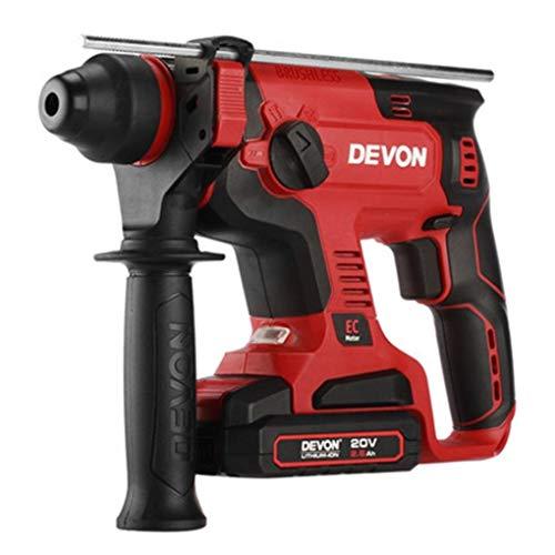 Dual-hammer-drill (Yongse Devon 5401-Li-20RH 2.6Ah Dual Use Elektro-Schlagbohrer mit Licht)