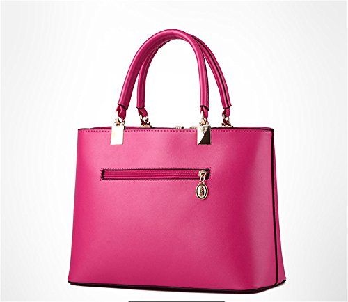 Wewod, Borsetta da polso donna Multicolore Multicolore 33mx12cmx22cm, Blu marino (Multicolore) - JX-ap89 Rose Red