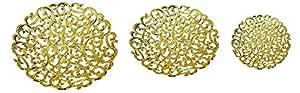 Majik Basket for Chocolate Gifting Royal Basket (Golden Round S+M+L) 45 Grams, Pack of 1