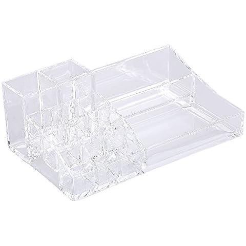 TININNA trasparente Acrilico cosmetico rossetto Display Stand cosmetico scatola di immagazzinaggio - Mostra Acrilico Contenitore