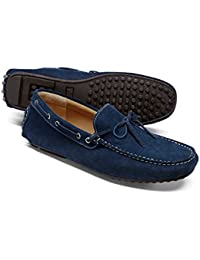 Blue Suede Driving Loafer by Charles Tyrwhitt