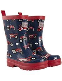 Hatley Boys' Rain Wellington Boots, Red Farm Tractors, 10 Child UK 27 EU