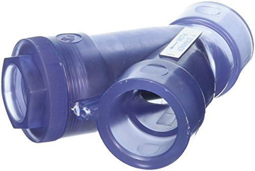 Hayward ys00150s 1-1/2Zoll Stecknuss transparent PVC y-strainer mit NBR O-Ring Dichtungen (Filter De Hayward)