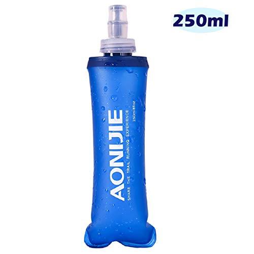 Azarxis TPU Faltbarer Soft Flask, BPA-Frei Trinkblase Trinkflaschen Wasserflasche für Trinkrucksack Fahrrad Klettern Sport (250ml)