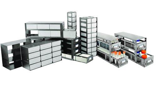 Vertikale Gefrierschrank Rack (Argos polarsafe rc043a Vertikale Rack für Brust Gefrierschrank 7,6cm Box, für 4Boxen)