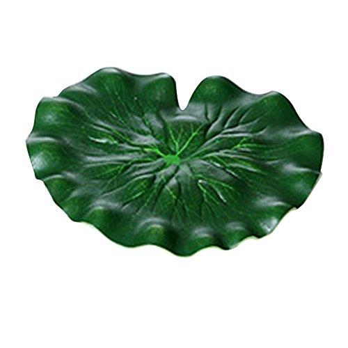 non-brand MagiDeal 2pcs Künstlich Schwimmende Lotusblatt Seerose Blatt Fisch Teich Aquarium Dekoration - 29 CM (Seerosen Fische,)
