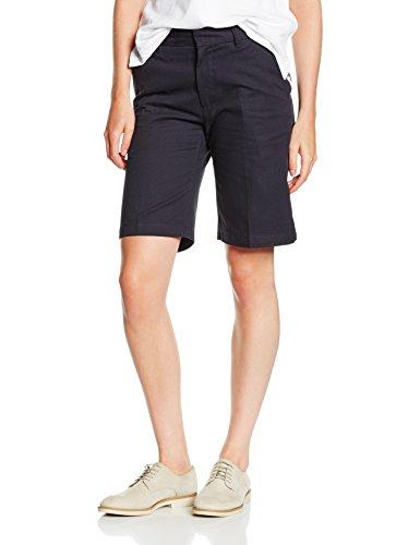 henbury-womens-ladies-twin-pleat-front-chino-teflon-coating-shorts-blue-navy-10
