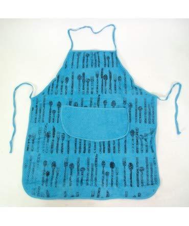 10XDIEZ Delantal Rizo Tenedor Azul