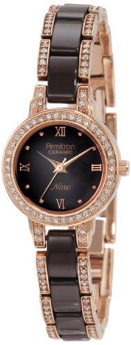 armitron-femme-75-3919rgbn-marron-ceramique-roseor-tons-swarovski-cristaux-accented-montre-bracelet