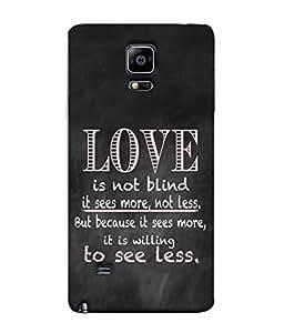Printvisa Designer Back Cover For Samsung Galaxy Note Edge, Samsung Galaxy Note Edge N915Fy N915A N915T N915K/N915L/N915S N915G N915D (Faith Emotion Blind Feeling Love Game Affection Beautiful Adoration)
