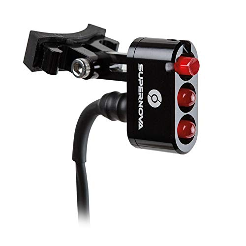 SUPER NOVA Rücklicht E3 Tail Light 2 Schwarz Dynamo Fahrrad Licht Sattelstütze, N-TK2-S-BLK