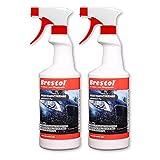 Brestol Insektenentferner 2X 750 ml gebrauchsfertig - Insektenlöser Polycarbonat geeigneter Insektenreiniger Vogelkotentferner Spezialreiniger alkalisch