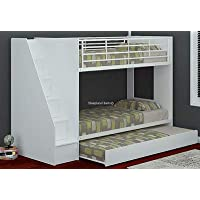 Sleepland Beds Cameo Deluxe staircase bunk with Guest Bed (White)