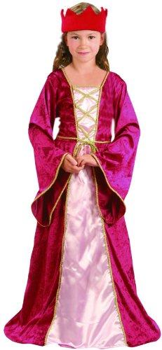iche Königin für Mädchen 140/152 (10-12 Jahre) (Mittelalterliches Mädchen-kleid)