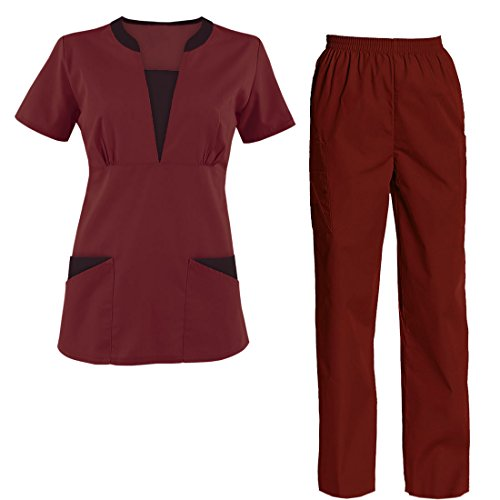 TAILOR'S Scrub Set Medical Nursing Uniform Set Top and Pants