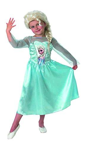 Disney FrozenKostüm Elsa Classic Mit Perücke Large (Frozen Elsa Schnee Königin Kostüm)