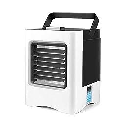 Mini Luftkühler,Tragbare klimaanlage 4 in 1 Mini Klimaanlage/Luftbefeuchter/Luftreiniger,3 Kühlstufen (Ladung/Akku), Für Schnelles Kühles Home-Office-Schreibtisch-Schlafzimmer Im Freien