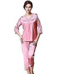 8bc152c08d Amazon.es  Pijamas Satin - Rojo   Batas y kimonos   Ropa de dormir  Ropa