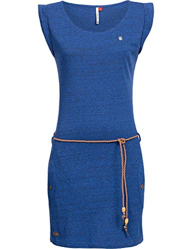 Ragwear Damen Baumwoll Jersey Kleid Tag Blue Gr. M -