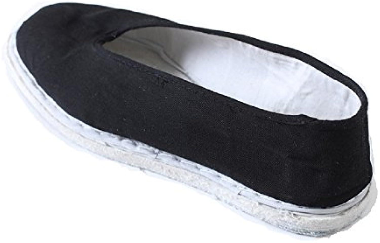 Tianrui Crown - Mocasines de Lona para hombre negro negro