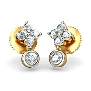 BlueStone 14K Yellow Gold and Diamond Stud Earrings