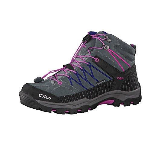 CMP Rigel - Scarpe da Trekking e da Passeggiata Unisex – Adulto Grey-Hot Pink