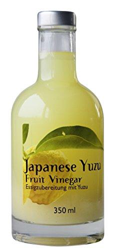Japanischer Yuzu-Essig - Als Feinschmecker Frucht-Essig Geschenk-Set Ähnlich wie Zitronen-Essig - Japanese Yuzu Fruit Vinegar - Super geeignet als Sushi-Essig -- von Feuer & Glas Sushi Glas