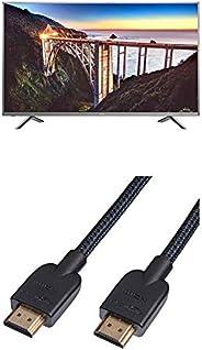 Hisense H45NEC5655 114 cm (45 Zoll) Fernseher (Ultra HD, HDR, Triple Tuner, Smart-TV) mit AmazonBasics HDMI-Ka