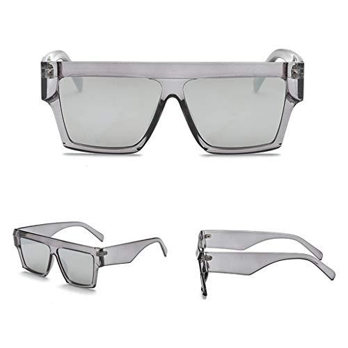 Guangtian Unisex-Sonnenbrille für Travel Drive Square Sonnenbrille Shades Spiegel Eyewear Retro Style Big Frame Sonnenbrille Oversize für Mann Frauen UV400