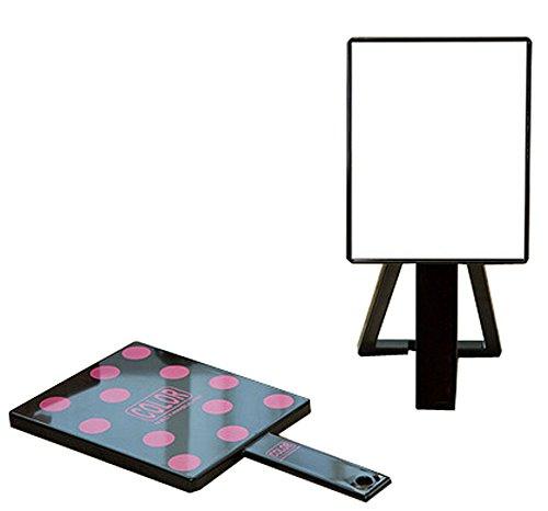 Set von 2 Spiegel Vanity Mirror Handheld Spiegel Tischplatte Make-up Spiegel (Schwarz) - Schwarz Cheval Spiegel
