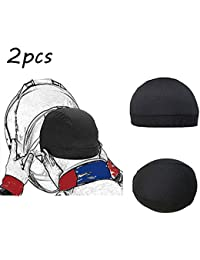 Gorra de para la Moda Casco Interior Liner Sombrero de protección Solar Sombrero Deportivo de secado rápido para exteriores Outdoor Sports cap (Black)