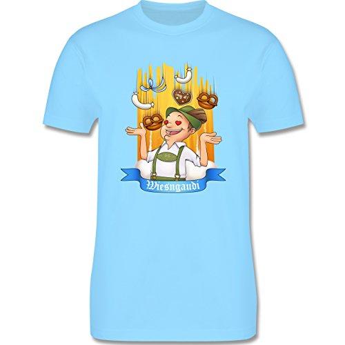 Oktoberfest Herren - Wiesngaudi - Herren Premium T-Shirt Hellblau