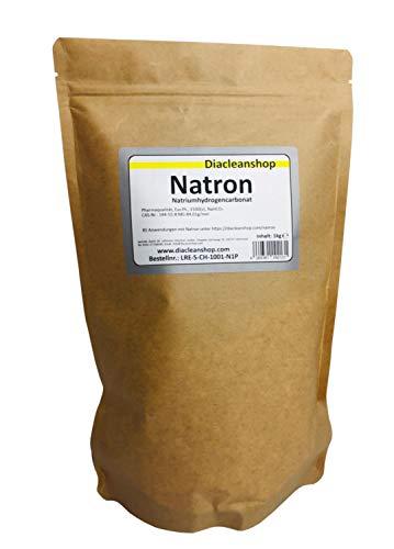 Natron 1 kg im Kraftpapierbeutel in pharmazeutischer Qualität - Natriumhydrogencarbonat (E500ii) - Hausmittel zum Backen, Reinigen, Baden, Gerüche Neutralisieren & DIY-Kosmetik
