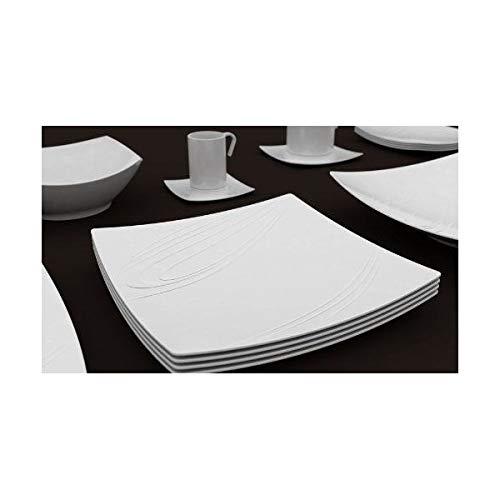 PORCELAINE BLANCHE Assiette plate 'Kensai' 26 cm (lot de 6) - KENSAI PLATE 26 cm